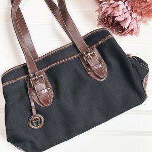 Etienne Aigner  3 compartment black Handbag